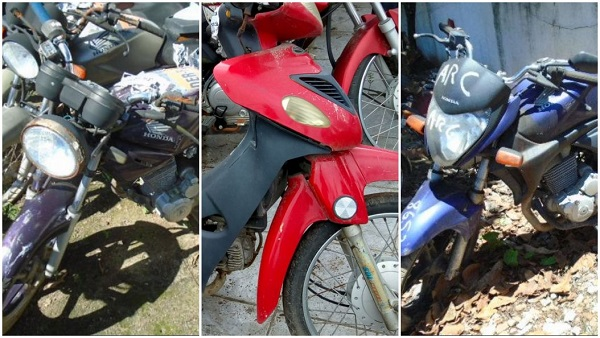 Leilão de motos do DER-RJ